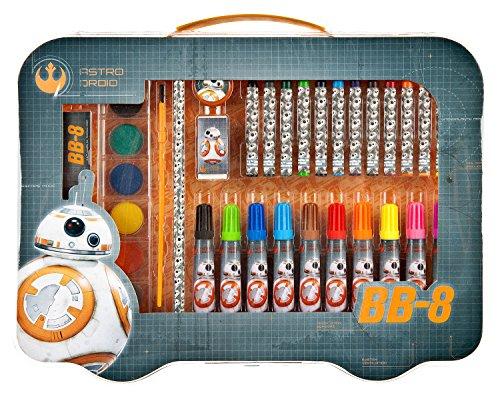 Undercover SWMK7293 Kindergartentasche, Star Wars, ca. 21 x 22 x 8 cm Malkoffer, 41 teilig