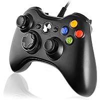 Diswoe Manette Filaire Xbox 360, Manette Xbox PC Joystick, Manette du Contrôleur de Jeu Filaire avec Double Vibration…