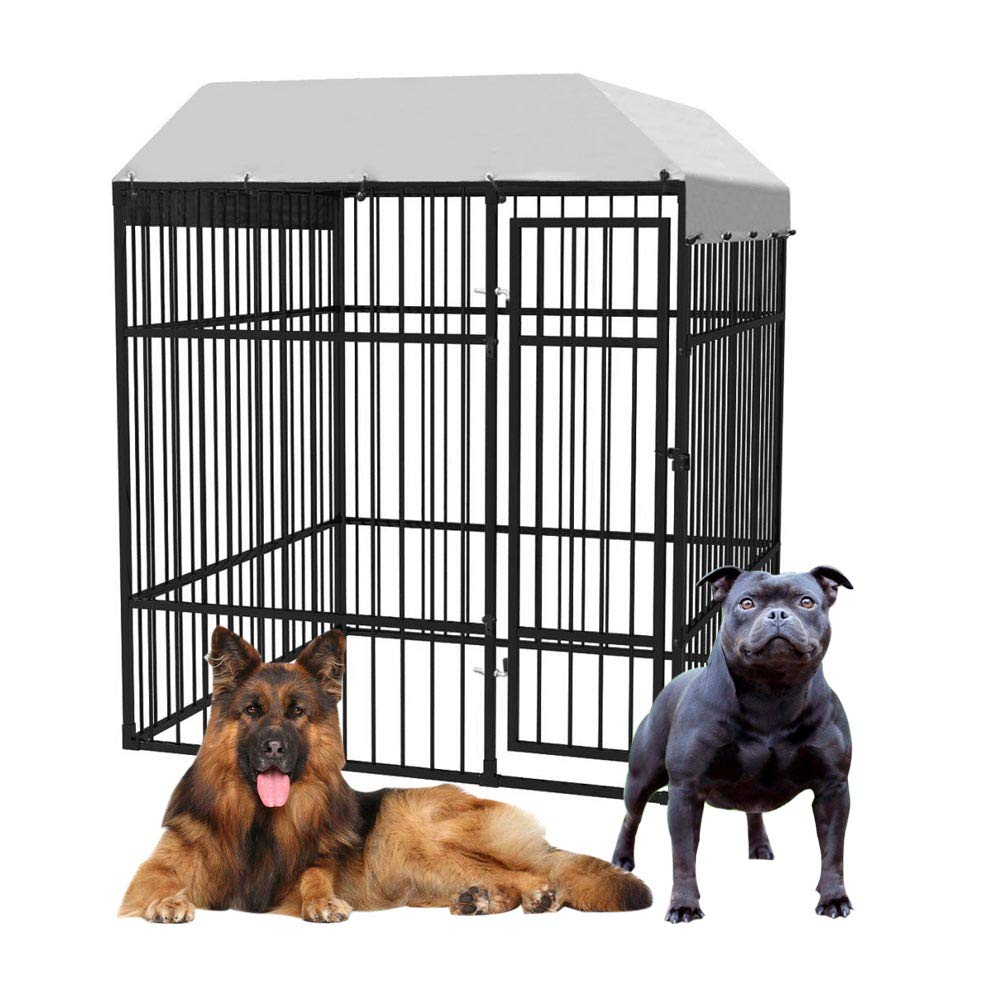 Dog Kennel, Pet Cage Dog Crate with Roof Heavy-Duty Outdoor 2×2 m