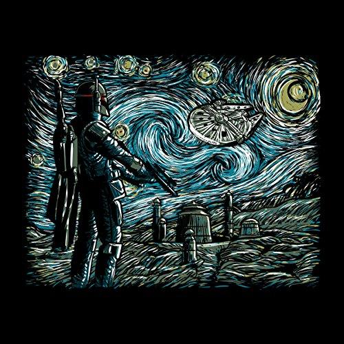 Star Wars Van Gogh Starry Wars Women's Hooded Sweatshirt Black
