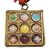 Numeroastro Navgraha Raksha Kavach Brass Yantra Pendant/Locket To Neglect Maleific effects of Nine Planets.