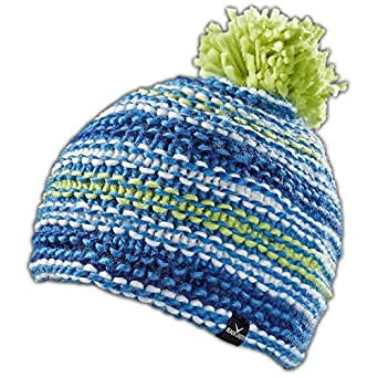 Black Canyon Strickmütze Oversized Winter  Beanie mit Bommel, 2 Farben, blau, BC1118