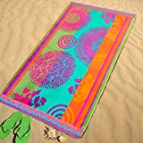 Burrito Blanco - Toalla de playa 160 de 95x170 cm, multicolor