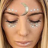 Face Temporary Tattoo Sticker Metallic Shiny für Glitzer Effekt, Parties, Shows und Make-up (F23)