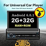 4Core 2G 32G Single DIN 17,8cm Android 6.0Touchscreen, Bluetooth, MP3/USB/SD am/fm Auto Stereo 17,8cm Digital LCD Monitor, abnehmbare Front Panel, kabelloser Fernbedienung, mehrfarbig Beleuchtung nicht CD/DVD-Player