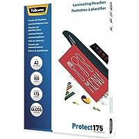 Fellowes 5308803 Protect 175 microns A3 pochettes de plastification brillantes - Pack de 100 Transparent