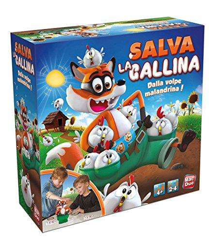 MacDue- Salva La Gallina Gioco Classico Bambino da Tavolo Giocattolo 149, Multicolore, 8001297233470
