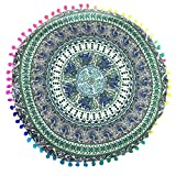 Cushion Cover, Manadlian 2017 New Colorful Indian Mandala Floor Pillows Case Round Boho Cushion Cover Home Car Decor (43*43cm, Multicolor 6)