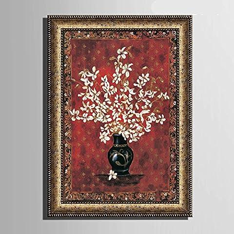 modylee bottiglia fiori con telone Video decorativa dipinti soggiorno camera da letto Tela pittura a olio,