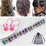 Cuhair 16 Stück Mini-Haarklammern/Haarclips, mit Strass-Steinen und Blumenmotiv, verschiedene Farben