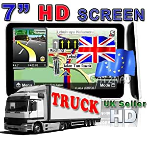 "Route 7"" XL Bluetooth SAT NAV GPS UK-EUROPE TRUCK-Car-LORRY-HGV-COACH-BUS+4GB+USA Map+FM+128MB Ram"