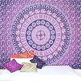 Goood Times Mandala-Wandteppich, Wandbehang, Wand-Deko, große Strand-Tagesdecke im Bohemian-Hippie-Style, Größe: Queen