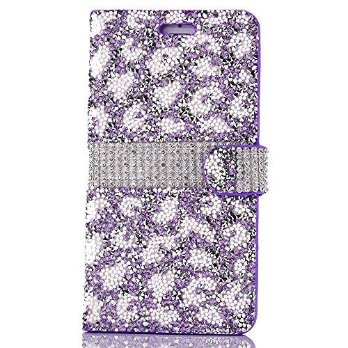 Cassa per Apple iPhone 6/6s 4.7, CLTPY Puro Vintage Belle Luccichio il Rhinestone Serie Portatile Back Cover, Completa Semplice Kickstand Resistenza Disegno Protettivo Case per iPhone 6,iPhone 6s + 1 Purple