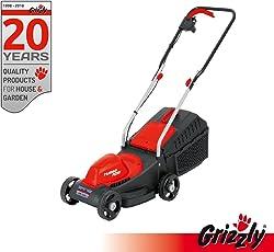 Grizzly Elektro Rasenmäher EM 1130 Powermotor 1100 Watt 30 cm Schnittbreite, 3 fach Höhenverstellung