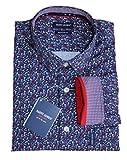 Saint James Herren Hemd Blau Blumen Druckmuster Gr.S, Gr.M, Gr.L, Gr.XL, Gr.XXL, Größe:M
