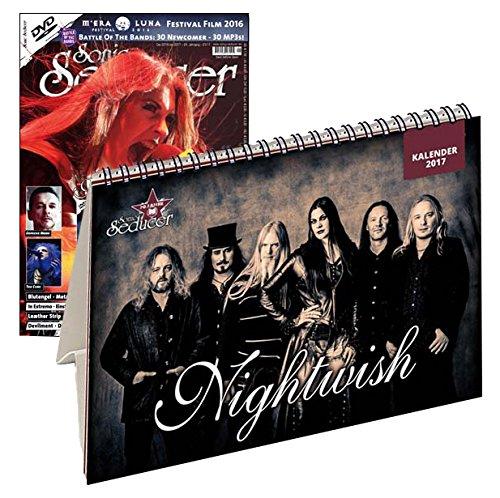 Sonic Seducer 12-2016/01-2017 Limited Edition mit Nightwish Tischkalender 2017 (299 Ex.) + Nightwish Titelstory + DVD: M'Era Luna 2016 - Der Film, ... Depeche Mode, The Cure, Blutengel u.v.a.