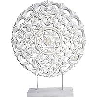 Hogar y Mas Pala/Murale Mandala di Legno, Decorazione, Desktop, Colore-Bianco, Etnico, Salone 48X7X38cm - Casa e più