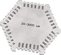 MagiDeal Precision Wet Film Comb Hexagonal 25-3000um Stainless Steel Thinkness Gauge