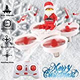 JJRC Mini Drone Enfant 2.4G Headless Four-Axis Mode Micro Drone Quadcopter Aircraft Crashproof Broken-resistant with Remote Control for Christmas Gift White Drone by Crazepony-UK