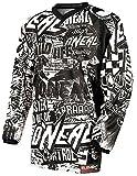 O´Neal Motocross Shirt Jersey Trikot Wild schwarz weiß Größe M