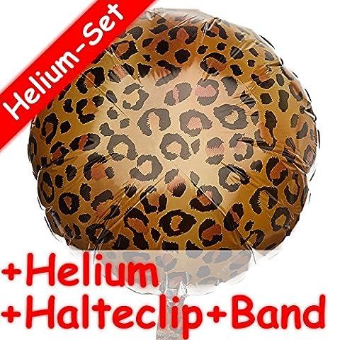 Folienballon Set * LEOPARD * + HELIUM FÜLLUNG + HALTE CLIP + BAND * für eine Safari-Party // Aufgeblasen mit Ballongas // Deko Geburtstag Folien Ballon Gepard Afrika Kindergeburtstag Mottoparty