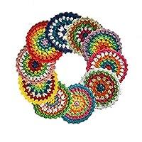Coasters for Drinks,Vintage Ethnic Floral Design Placemat Value Pack, 10pcs/Set (Hand Coaster)