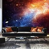 murando – Papier peint intissé – 350x256 cm – Trompe l oeil - Tableaux muraux – Déco – XXL– Kosmos Astre Galaxie f-B-0057-a-a