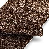 casa pura Teppich Läufer Uni Nougat | Qualitätsprodukt aus Deutschland | Gut Siegel | Kombinierbar mit Stufenmatten | 19 Breiten und 18 Längen (66 x 150cm)