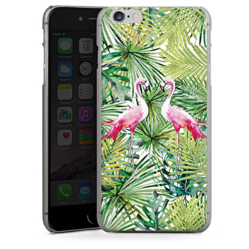 Apple iPhone X Silikon Hülle Case Schutzhülle Flamingo Palmenblätter Sommer Hard Case anthrazit-klar