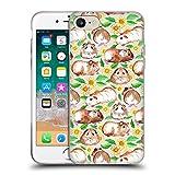 Offizielle Micklyn Le Feuvre Meerschweinchen Und Gänseblümchen Und Aquarell Muster 2 Soft Gel Hülle für Apple iPhone 7