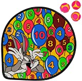 Unbekannt 1 Set: Dart Spiel - Dartscheibe incl. 3 Klettbälle -  Looney Tunes  - Wurfspiel für Kinder & Erwachsene - OHNE Spitze - drinnen und draußen Spiel Dartspiel ..
