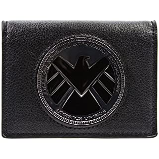 Marvel Avengers Agents of Shield Phil Coulson Badge Black ID & Card Wallet