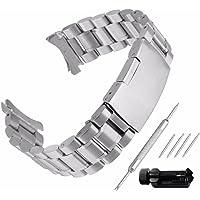 Beauty7 Bracelet du Montre 16mm/18mm/20mm/22mm/24mm Bande du Montre pour Cadran Rond Boucle Deployante en Acier…