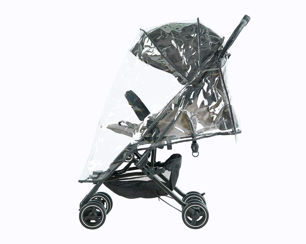 Roma Capsule² Compact Airplane Travel Buggy from Newborn + Rain Cover, Insect Net and Travel Bag, Only 5.6 kgs - Grey with a Black Chassis Roma Compact lie-back stroller - suitable from newborn to 15 kgs Includes rain cover, insect net, travel bag Locked and swivel wheels, shopping basket, 2