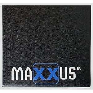 Maxxus Bodenschutzmatte Fitness Gummimatte, Bodenmatte In Schwerer Ausführung – Ideal als Schutzmatte Für Fitnessgeräte, Hantelbank, Rudergerät, Kraftstation, Crosstrainer, Vibrationsplatte etc