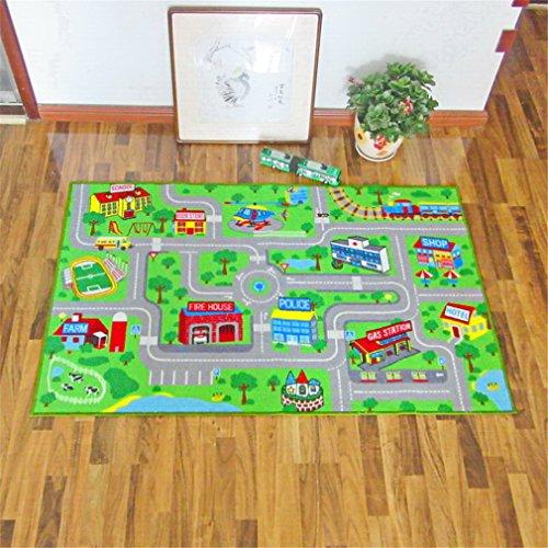 Teppich Kinder Baby Matten Spielteppich Fußmatten Baby Spielmatte Krabbeldecke Anti-Rutsch Verdicken Matten Bodentür/Vorleger/Wohnzimmer/ Gästezimmer Nylon 100*160Cm, 120*180Cm,100*160Cm