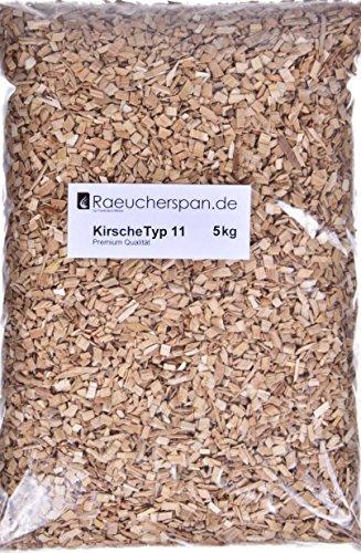 Räucherspäne Räuchermehl Kirsche Kirschholz Typ 11, zum Warmräuchern und Heißräuchern geeignet, 5kg