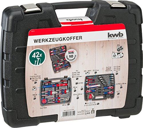 kwb Werkzeugkoffer 370731 (42-teiliger Inhalt, GS geprüft, ideal für den ambitionierten Hausgebrauch im praktischen Kunststoffkoffer) - 3