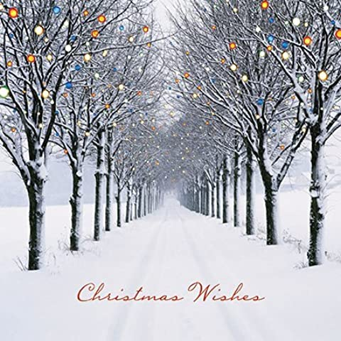 Darkroom - Set di 16 biglietti di auguri natalizi con dettagli in glitter, motivo: Christmas Avenue [lingua inglese]
