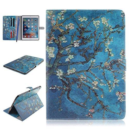 iPad Pro Funda,Careynoce Atrapasueños León Tigre Pattern Flip PU Cuero Carcasas Funda Case Cover para Apple iPad Pro iPad 7 (9.7 pulgada) - Albaricoque