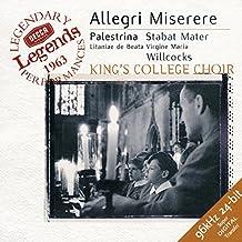 Allegri: Miserere / Palestrina: Stabat Mater