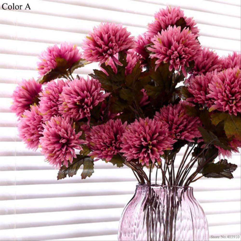 YMKWQF Flor Artificial Dalia Artificial Flor De Dahlia Araña Artificial Seca Flor De Seda Premium para Hotel De Familia…