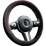 Anpro Rattskydd rattskydd rattskydd rattskydd läder rattskydd 37 – 39 cm – svart