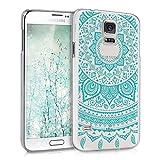 kwmobile Cover per Samsung Galaxy S5 / S5 Neo - Custodia Rigida Trasparente per Cellulare - Back Case Cristallo in plastica Menta/Trasparente
