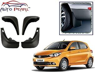 Autopearl Car O.E Type Mud Flaps for Tata Tiago, Free Size (Black, MudFlaps_Tiago)