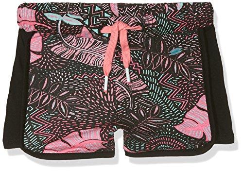O'Neill Mädchen Chill 'n' Cruz Streetwear Shorts, Black AOP W/Pink, 140