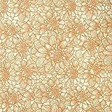 handgeschöpftes Geschenkpapier - Dahlia natur-kupfer - Loktapapier Fair Trade