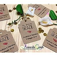 Cartellini kraft personalizzati, bomboniere, avana, etichette,matrimonio, battesimo, comunione, cresima, laurea, bigliettini carta kraft, carta riciclata