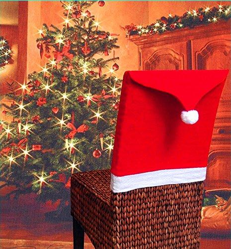 Crazy lin Weihnachtsmann-Red Hat-Stuhl-rückseitige Abdeckung Weihnachtsabendessen-Tabellen-Partei-Dekor