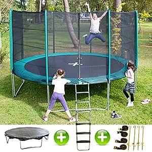 pack trampoline jumpstar 430 cm echelle bache kit d 39 ancrage sports et loisirs. Black Bedroom Furniture Sets. Home Design Ideas